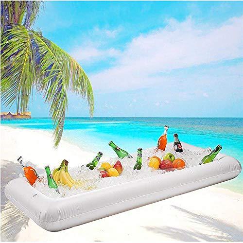 Aufblasbare Bier Tisch Pool Float Sommer Wasser Party Luftmatratze Eiskübel Servieren/Salat Bar Tablett Essen Getränkehalter