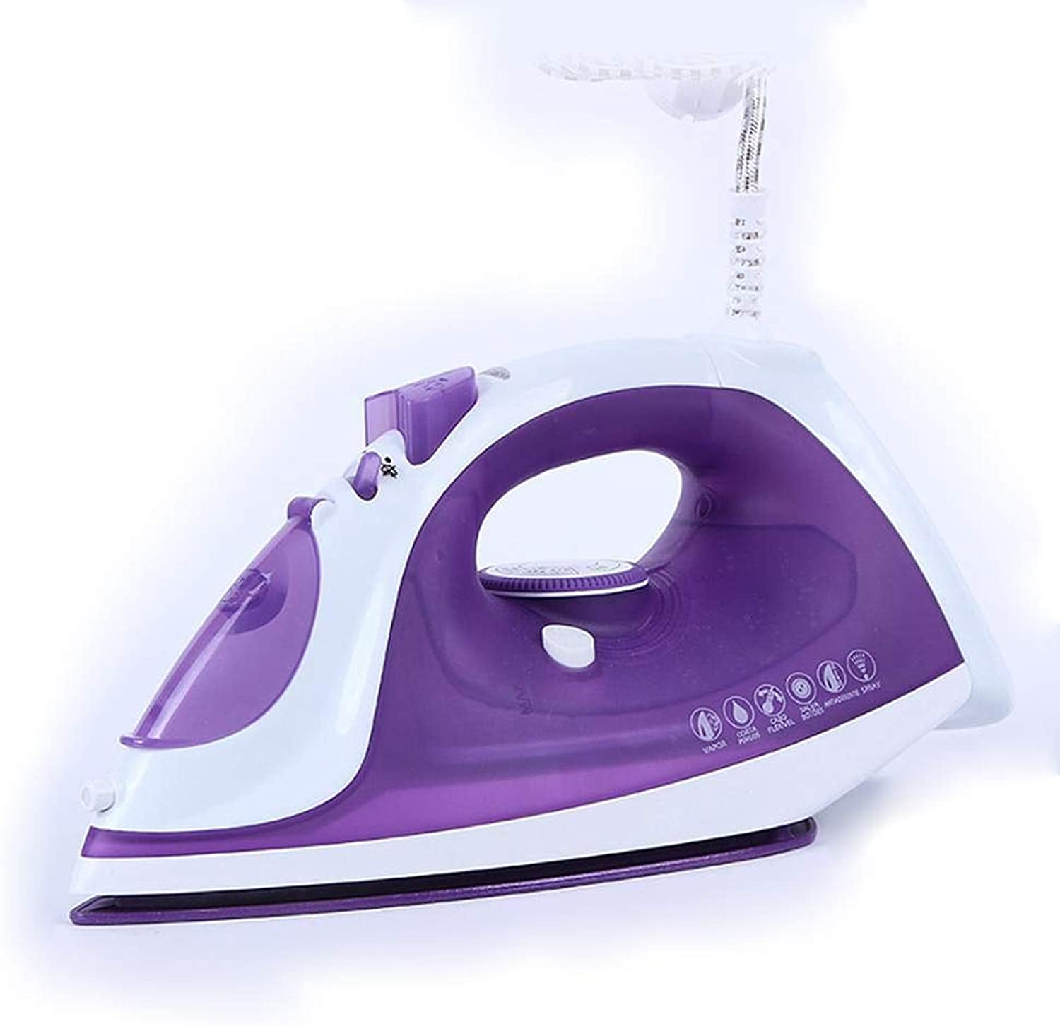 OFZYG Powerful Steam Iron 1800 Watt with Ceramic Coating Soleplate, Antidrip, Auto Shut Off, SelfClean, AntiCalc Functions pink Red Dark blueee Purple