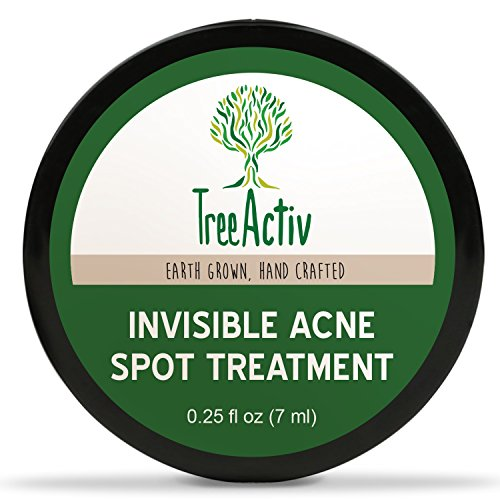 TreeActiv Invisible Acne Spot Treatment, Daytime Cystic Acne Treatment, Mess-Free Fast-Acting Formula, Works Under Makeup, Tea Tree, Peppermint Essential Oil, Lemon Essential Oil, Safe Acne Treatment For Sensitive Skin (0.25oz)