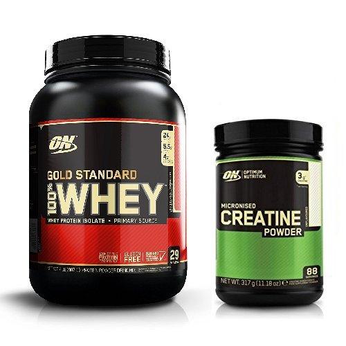 Optimum Nutrition Gold Standard Whey 908g Strawberry & Creatine 317g