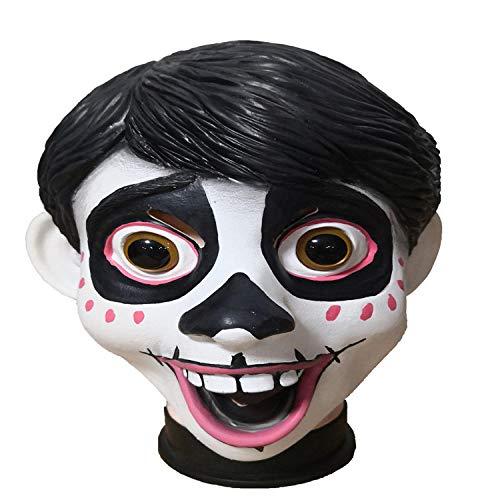 Máscara espeluznante espeluznante del fantasma del zombi, máscara de látex sonriente de Halloween, máscara segura y no tóxica, Máscara de látex de fiesta de disfraces de Halloween de la novedad