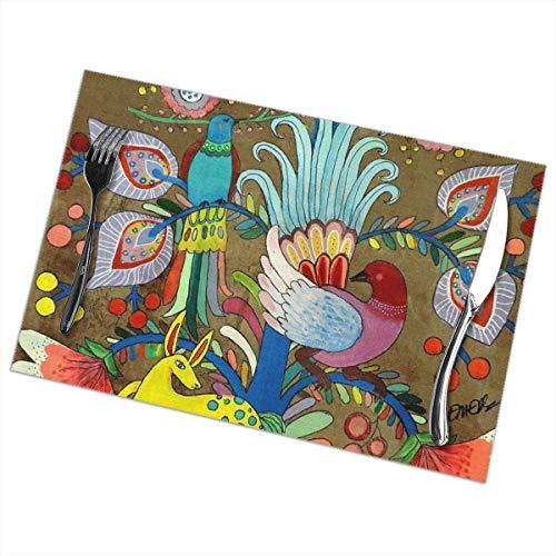 Uliykon Amate UNO Tischsets für Esstisch, waschbar, hitzebeständig, 30,5 x 45,7 cm, 6 Stück