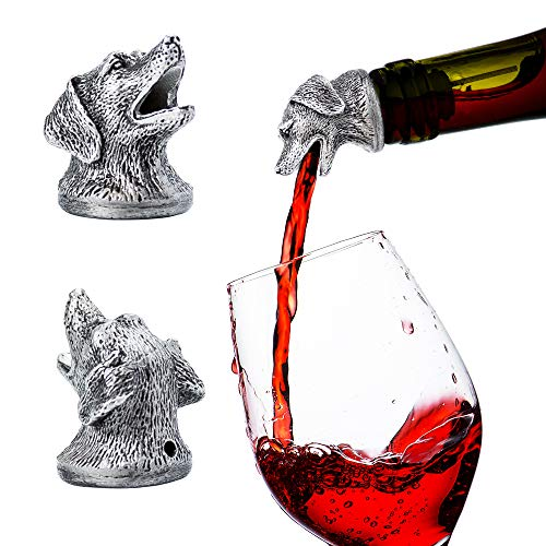 Stainless Steel Animal Wine Pourer & Aerator (Dog) NEW DESIGNS AVAILABLE