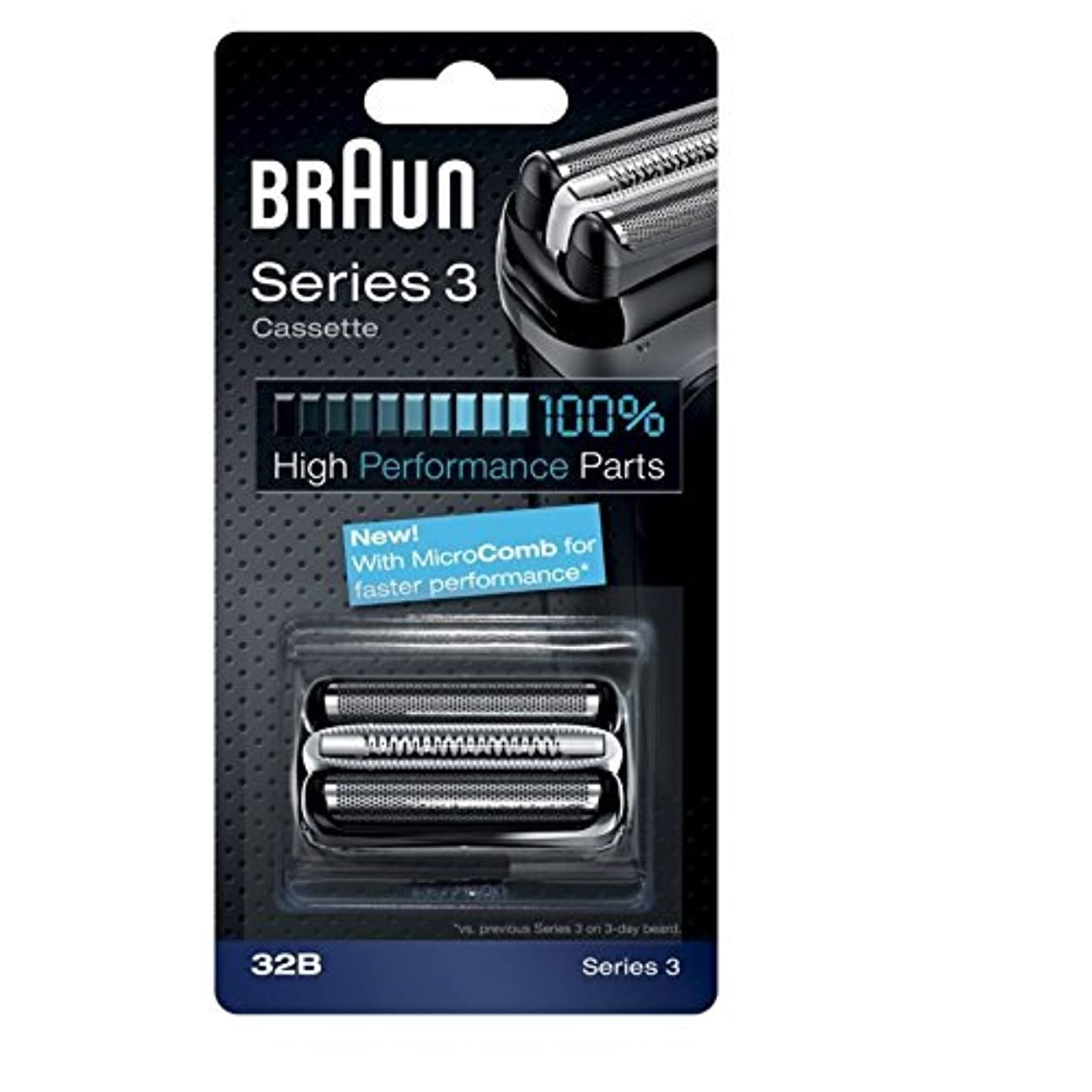 ブローホール半径ブレーキBraun razor Replacement Foil & Cutter Cassette 32B Series 3 320 330 340 350CC black shaving heads [並行輸入品]