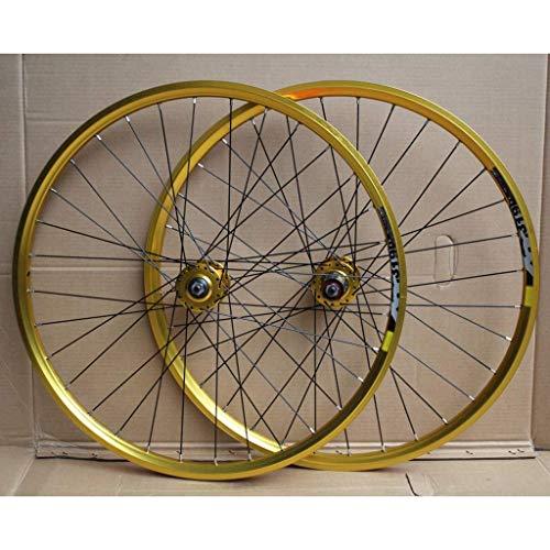 ZHTY MTB Bike Wheelset 24 Inch Double Layer Rim Disc/Rim Brake Bicycle Wheel 8-10 Speed 32H