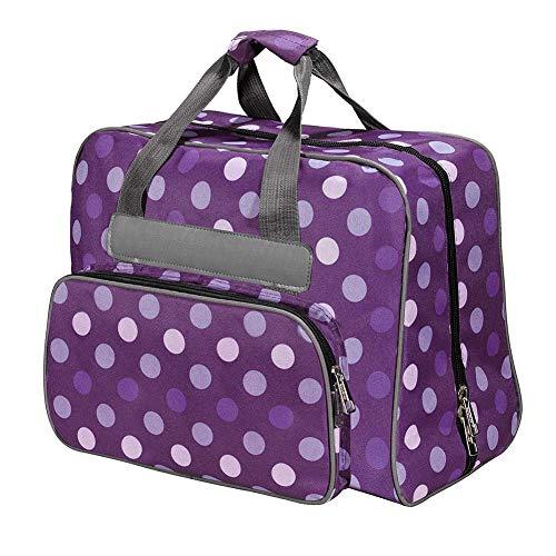 Bolsa de máquina de coser extra grande con bolsillos y asas, bolsa de herramientas para máquina de coser y accesorios de costura extra