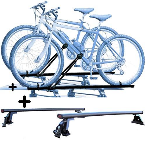 PROPOSTEONLINE Due Portabici per Tetto Auto per Lexus NX 5p (2014 in Poi) 2X Porta Biciclette universali in Acciaio Inclusi di Barre Portatutto