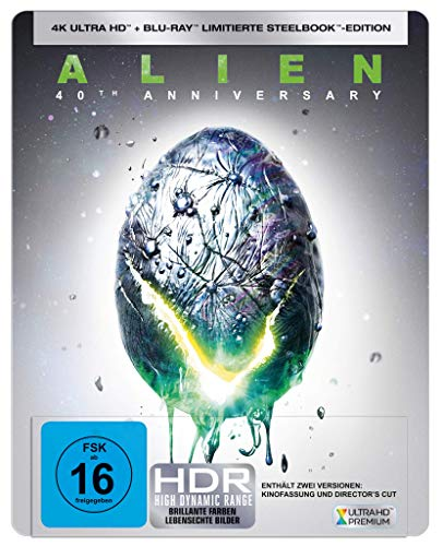 Alien - 40th Anniversary - 4K UHD Steelbook - Limited Edition [Blu-ray]