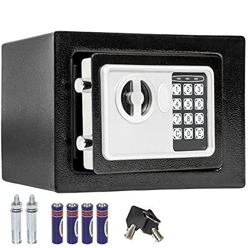 TecTake Elektronischer Safe Tresor inklusive 4 Batterien -Diverse Modelle- (17x23x17cm)