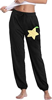 Women's Fit Sweatpants, 100% Cotton Paopu Fruit Sports Pants for Womens