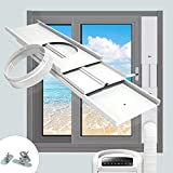 TOPOWN Window Ac Window Vent Kit Slide Kit Plate for Portable Air Conditioner Vertical/Horizontal PVC Seal Bracket -Adjustable Length-with Adaptor Suitable for Mobile Air Conditioner with 5.9'/15cm