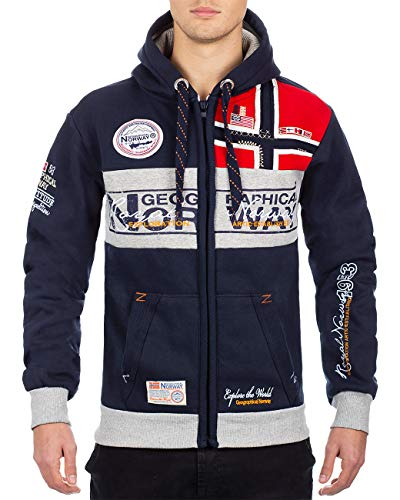 Geographical Norway Herren Sweatjacke Flyer Men Navy M