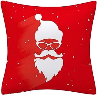 BiuBuy Christmas Square Printed Cushion Cover,Throw Pillow Case, Slipover Pillowslip for Home Sofa