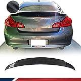 JC SPORTLINE Carbon Fiber Rear Trunk Spoiler fits Infiniti Sedan 4-Door G25 2011-2012 G37 2009-2013