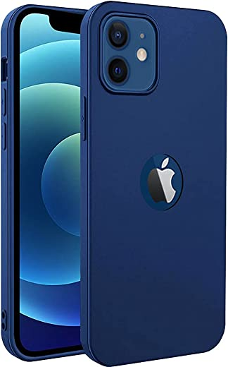Amozo Back Cover For iPhone 12/ 12 Pro ( Silicone|Blue )