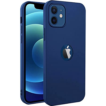 Amozo Ultra Slim Soft Silicon Flexible Camera Protection Back Case Cover for iPhone 12/12 Pro (Soft|Silicon|Blue)