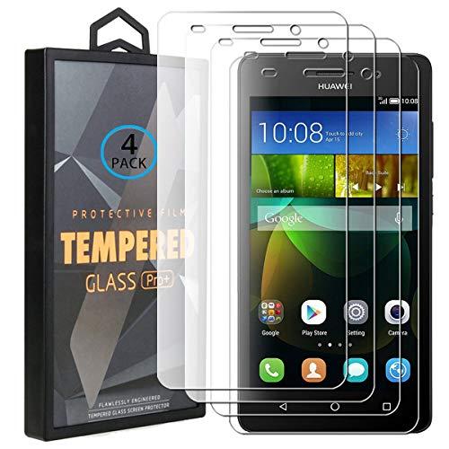 Ycloud 4 Pack Vetro Temperato per Huawei G Play Mini, Ultra Trasparente, Installazione Semplice, Anti-Graffio Applicare a per Huawei G Play Mini