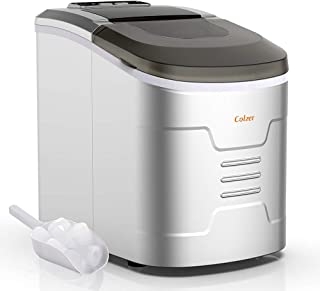 Colzer Portable Electronic Ice Maker Machine, Countertop Ice Maker,Make 9 Ice Cubes within 6-13 Minutes,33lbs Ice in 24 hours,2.2 liter Water Tank and Ice Scoop,Perfectly For Home,Kitchen, Bar,KTV