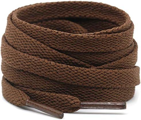 DELELE 2 Pair 35 43 Super Quality 24 Colors Flat Shoe laces 5 16 Wide Shoelaces for Athletic product image