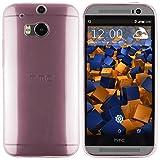 mumbi Hülle kompatibel mit HTC One M8 / M8s Handy Case Handyhülle dünn, transparent rosa