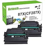 Aztech Compatible Toner Cartridge Replacement for HP 87X 87A CF287X CF287A HP Laserjet Enterprise M506 M506dn M506n Pro M501 M501dn HP M506 M506x M527 M527dn (Black, 2-Pack)