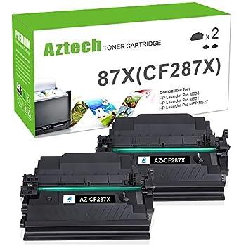 Aztech Compatible Toner Cartridge Replacement for HP 87X 87A CF287X CF287A HP Laserjet Enterprise M506 M506dn M506n Pro M501 M501dn HP M506 M506x M527 M527dn  Black 2-Pack