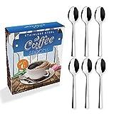 Solance Lot de 6 cuillères à café/moka linéaires en acier inoxydable 18/10