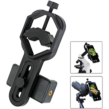 F.Dorla Universal Cellphone Telescope Adapter Mount Compatible with Binocular Monocular Spotting Scope Microscope for iPhone Samsung Cellphone Support Eyepiece Diameter 25 to 48mm