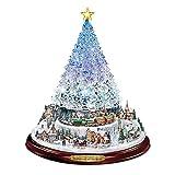 RONGXIANMA Árbol de Navidad 20X30Cm Árbol de Navidad Escultura giratoria Decoración de Tren Pegatinas de Ventana Decoraciones de Navidad