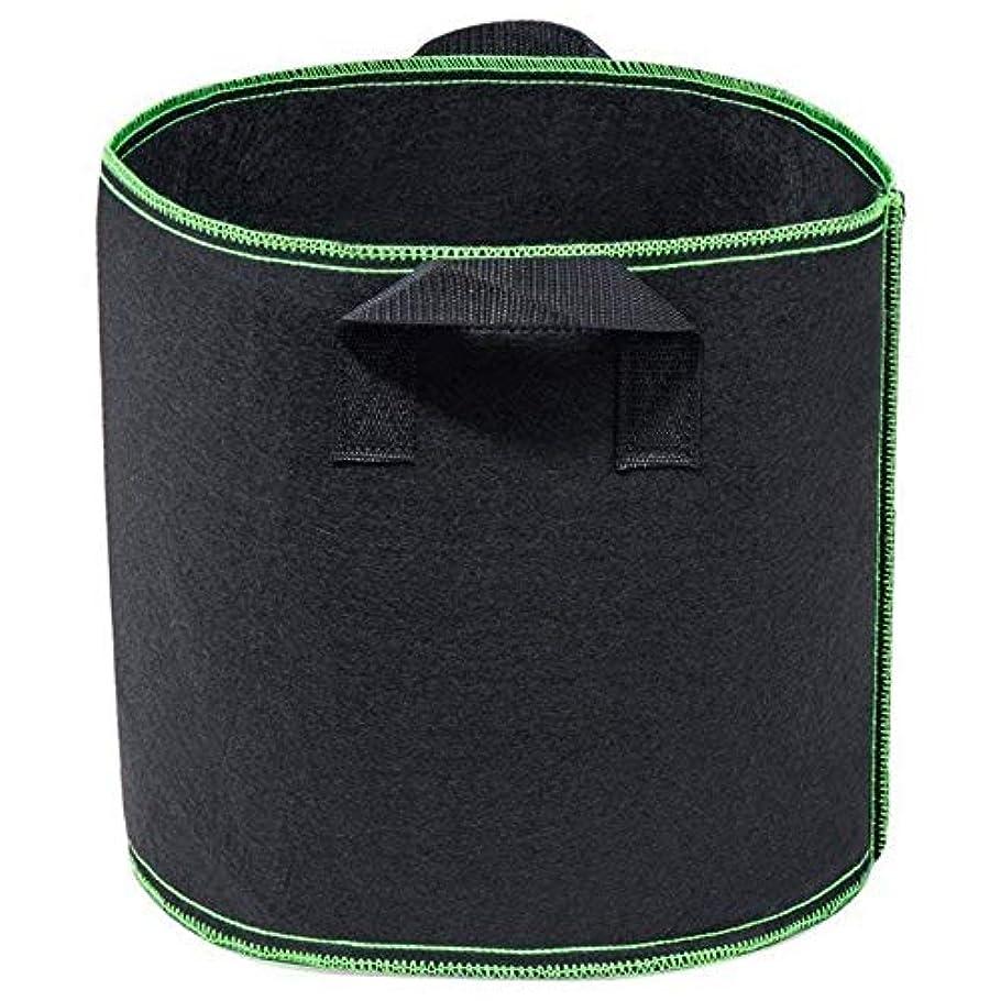 ぴったりチーズ献身JVSISM 5パック 育成袋 ミニガーデン フラワー 植物 ジャガイモ、ニンジン、トマト、植物容器のための袋 増やす 厚くされた 不織 植物 ファブリックポット 5ガロン:30CM x 26CM