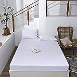 haiba Sábana bajera ajustable para cama doble, mezcla de poliéster, algodón, suave, cómodo, lavable a máquina, transpirable, 120 x 200 + 28 cm