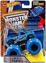 Hot Wheels Monster Jam 1:64 Scale - Blue Thunder with Stunt Ramp #24