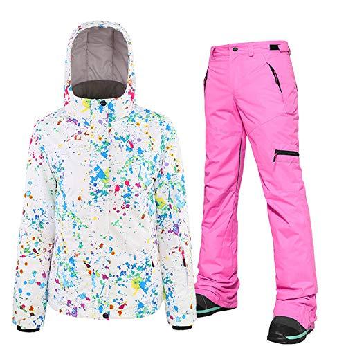 ZYJANO ski pak 2019 nieuwe Ski suit Dames Snowboard jas Winter Outdoor Single Board, Dubbele ski jas ski broek Waterdicht Fr
