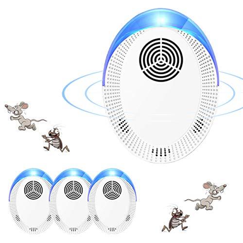 Repelente Ultrasónico Mosquitos, Control de Plagas para Las Ratas y Ratones, Cucarachas,...