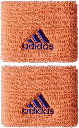 adidas Muñequera de Tenis Pequeña Negra, Naranja