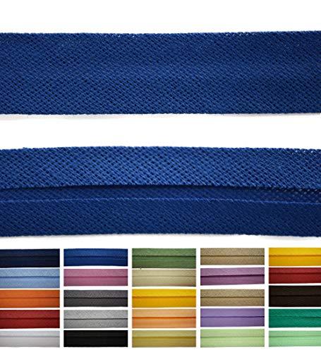 Roban Fashion Baumwoll Schrägband 30mm breit Textilband Blende in 24 Farben