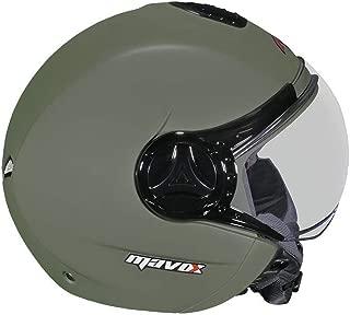 MAVOX OX10 560 Open Face Helmet (Olive Green Matt, 560 mm)