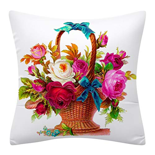 Ostern Kissenbezüge Rabbit Kaninchen drucken Kissenbezug Kissenbezug Zierkissenbezüge Throw Pillow Covers Cases Festival Deko Decoration Kissenhülle Schlafsofa URIBAKY