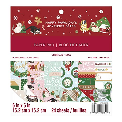 Craft Smith Happy Pawlidays 6x6 Inch Paper Pad, Papierblick
