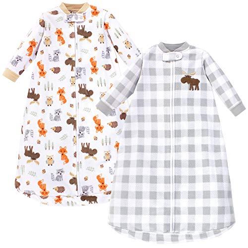 Hudson Baby Unisex Baby Long Sleeve Fleece Sleeping Bag, Woodland, 0-9 Months