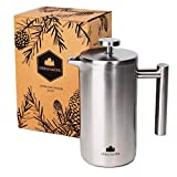 Groenenberg Cafetière | French Press Coffee Maker 0,35 Litre | 2 Cup Stainless