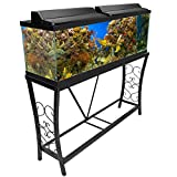 Aquatic Fundamentals Metal Aquarium Stand (55 Gallon, Black)