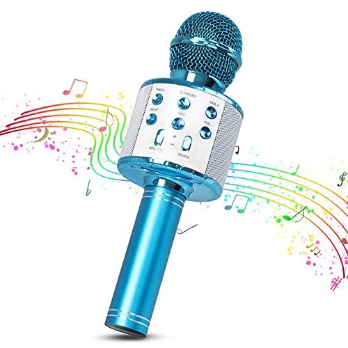 Karaoke Mikrofon, MOPOIN 4-in-1 Multifunktional Bluetooth Karaoke Mikrofon...