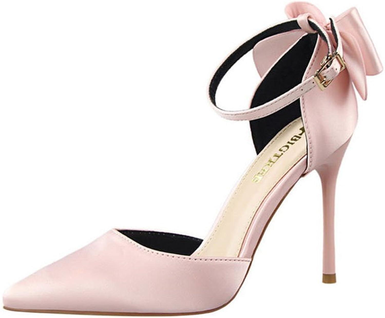 Bowknot Dress shoes Women Pumps Heels Wedding Pumps Business Formal Heels shoes Sandals Grey