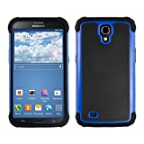 kwmobile Full Armor Case Compatible with Samsung Galaxy Mega 6.3 - Heavy Duty Shockproof Protective Hybrid Case Cover - Blue/Black
