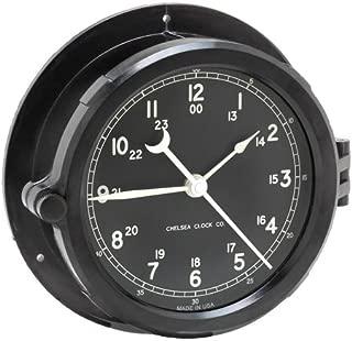 Chelsea Clock Patriot Deck Clock, Black Dial
