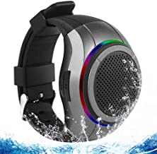 Frewico X10 Waterproof Bluetooth Speaker Watch with LED Flashing Light + MP3 Player + Microphone + TF Card Slot, Wearable Music Watch Band for Running, Climbing, Cycling (Gray)