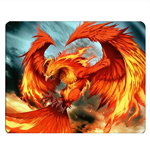 Nicokee Phoenix Gaming Mousepad Fantasy Phoenix Bird Mouse Pad Mouse Mat for Computer Desk Laptop Office 9.5 X 7.9 Inch Non-Slip Rubber