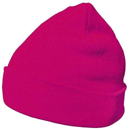 DonDon Wintermütze Mütze warm klassisches Design modern und weich magenta
