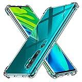Peakally Xiaomi Mi Note 10 Case, Soft TPU Transparent